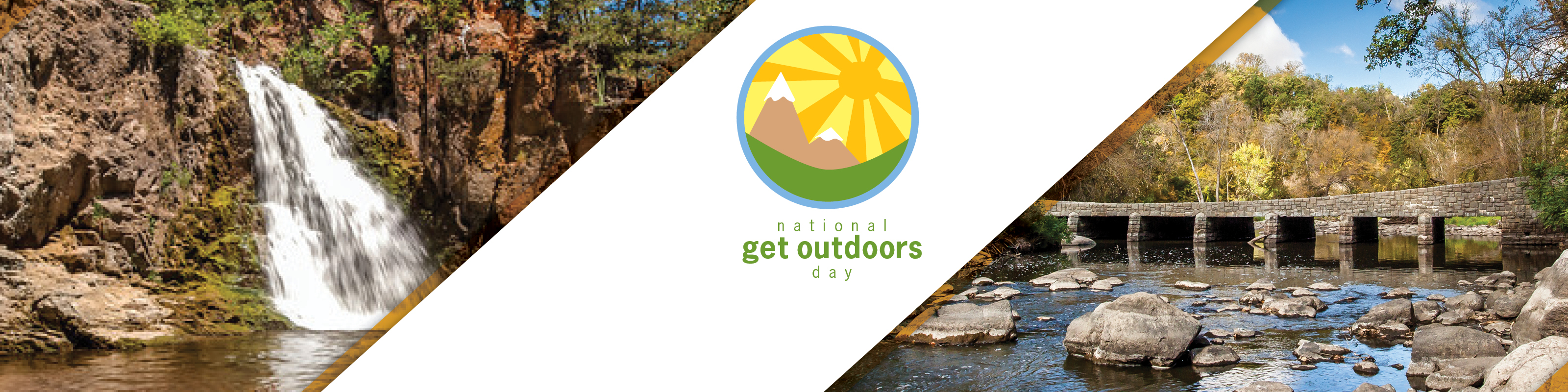 National Get Outdoors Day graphic
