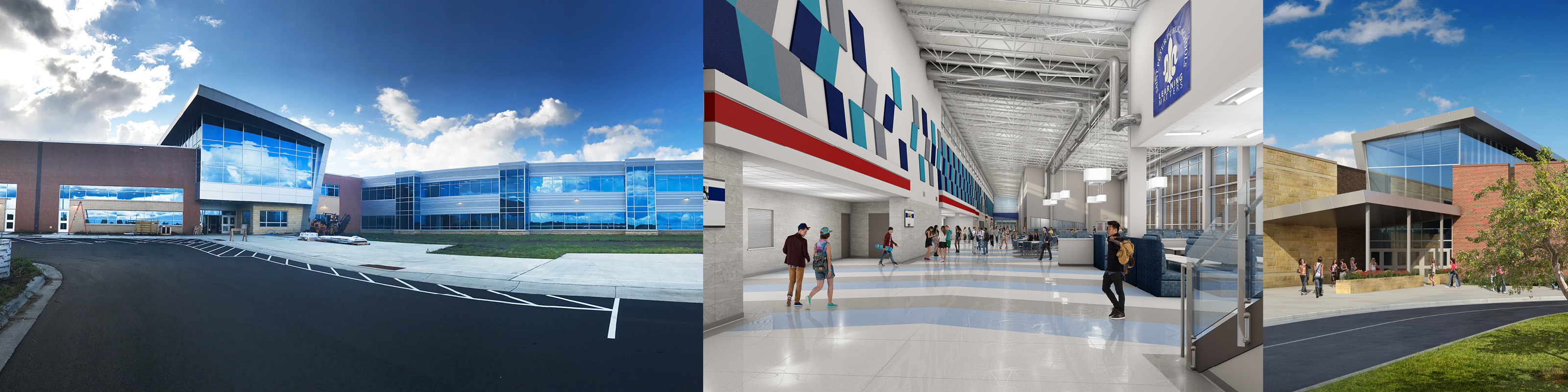 photo collage of St. Peter High School in St. Peter, Minnesota