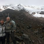 Casey and his Dad climbing towards a Glacier in Ecuador.