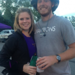 With his football days behind him, Darin now enjoys tailgating Mavericks games with his fiancé Kelsey.