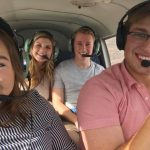Whitney co-piloting for her boyfriend Tory with her friends Kate and Dylan in Arizona.