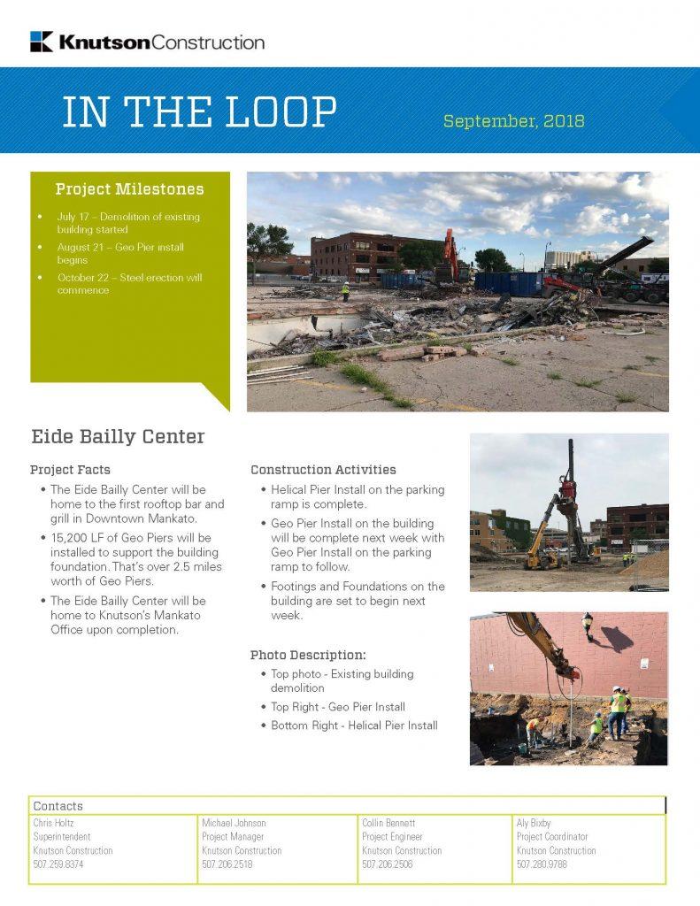 Eide Bailly Center Construction Update - Knutson Construction